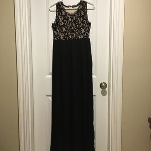 Maternity Black Lace Maxi Dress